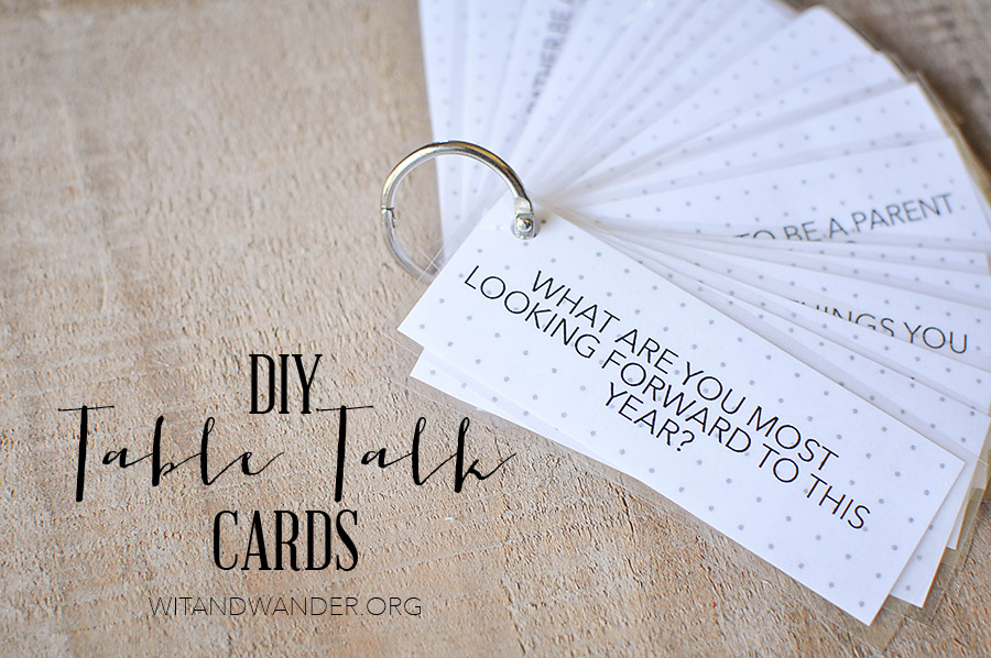 Free Printable Dinner Table Talk Cards Our Handcrafted Life