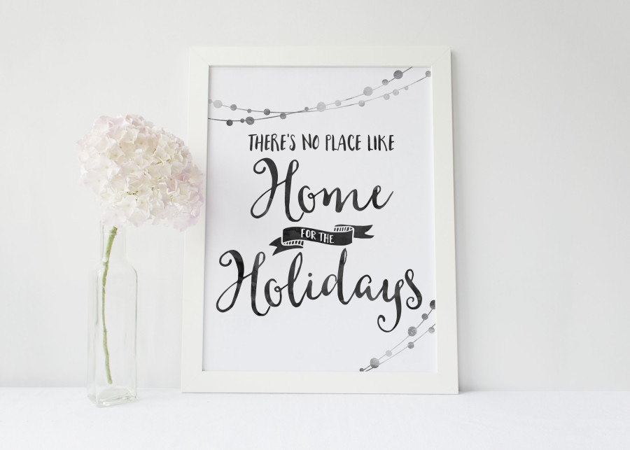 Download a Free Printable - There's No Place Like Home for the Holidays | Wit & Wander