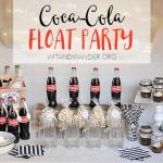 Black + White Coca-Cola Float Party