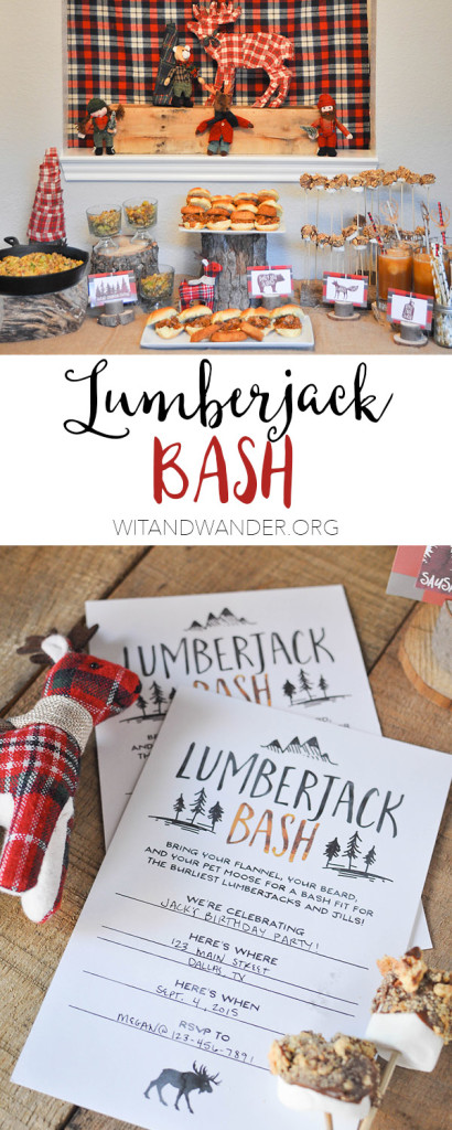 Rustic and Burly Lumberjack Bash Party - Wit & Wander