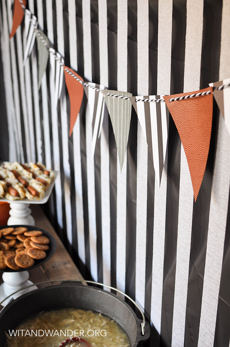 Referee Black and White Striped Back Drop - Chili Cook Off Tailgate Party | Wit & Wander