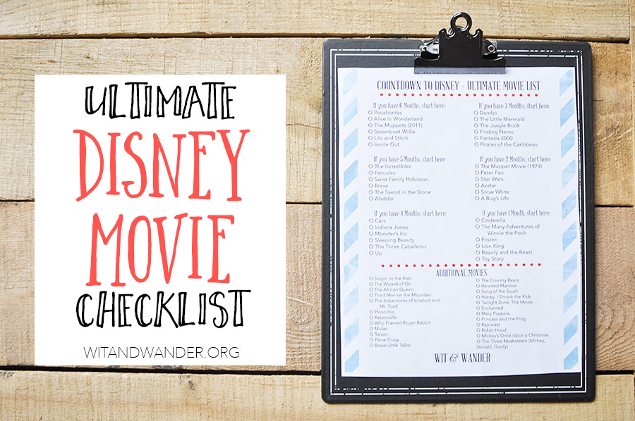 picture regarding Free Printable Disney Tickets named Absolutely free Printable Disney Online video Countdown List - Our