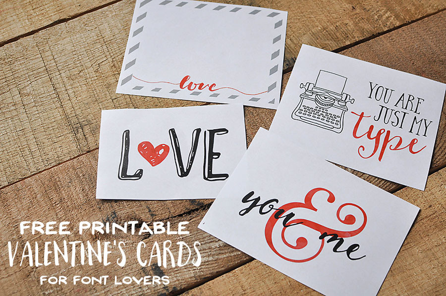 Free Printable Font Lovers Valentines | Megan Harney for By Dawn Nicole Header