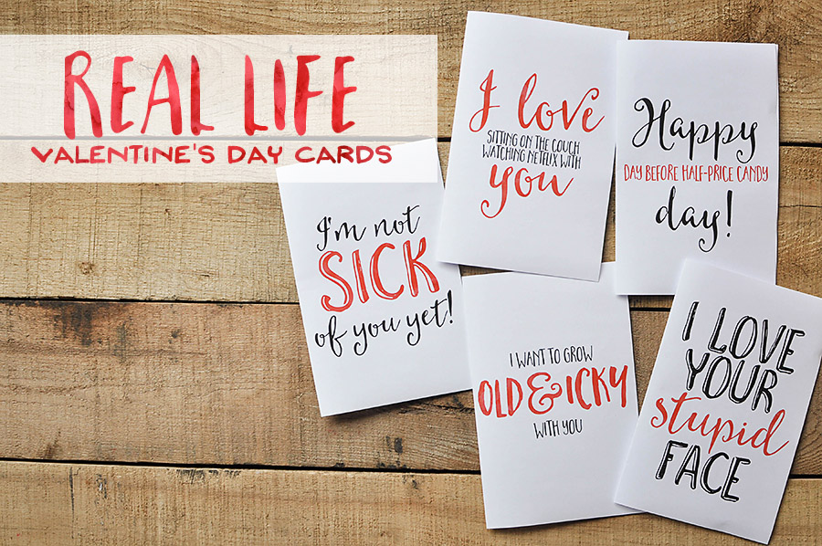 image about Printable Valentine Cards for Husband named Sarcastic Valentines Working day Playing cards - No cost Printables - Our