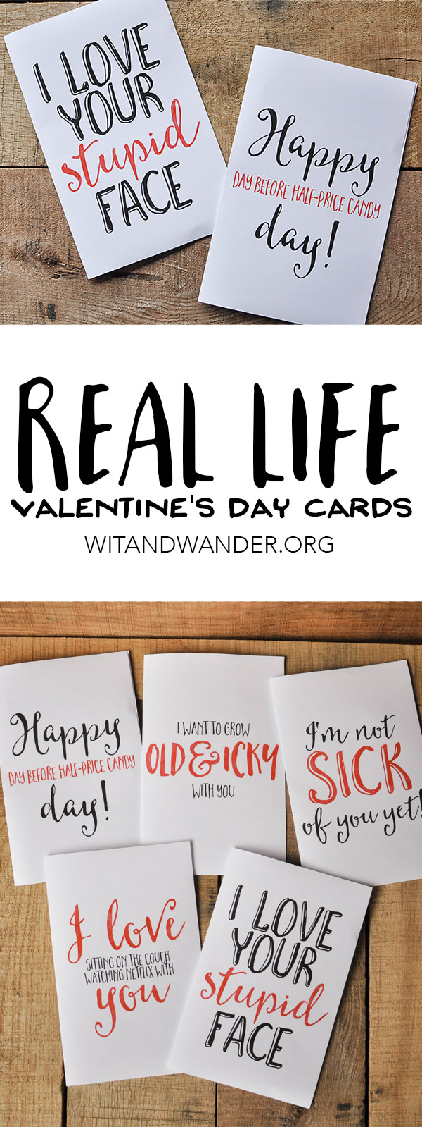 Sarcastic Valentines Day Cards Free Printables Our Handcrafted Life