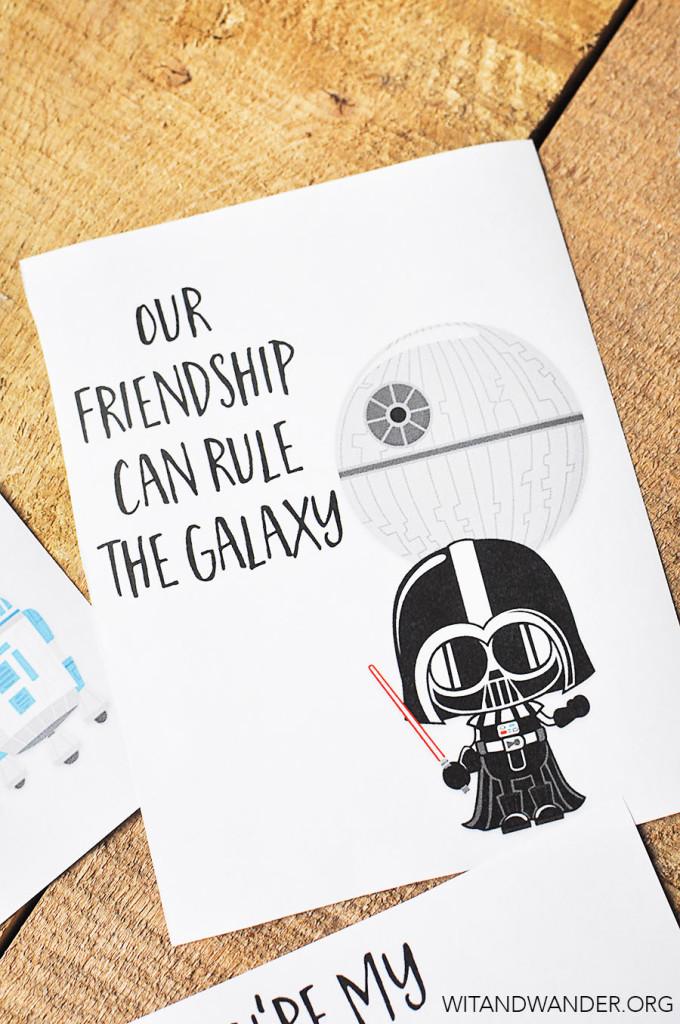 Free Printable Star Wars Valentines Day Card   Wit & Wander