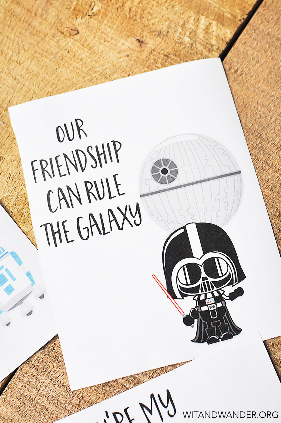 This is a photo of Invaluable Star Wars Printable Cards