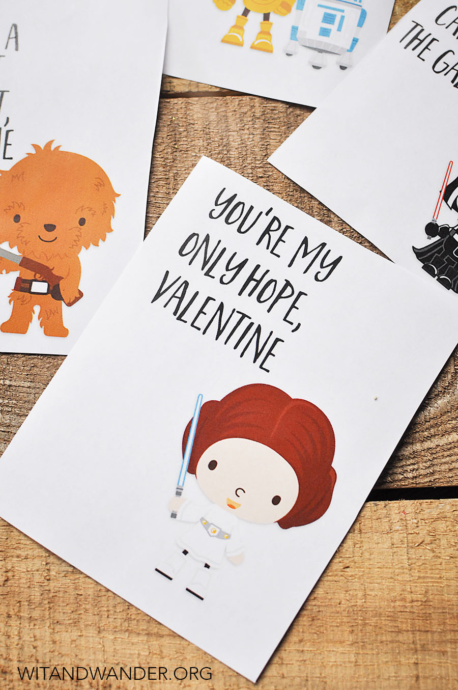 picture relating to Free Printable Valentines Day Cards for Your Husband referred to as Star Wars Valentines Working day Playing cards for Children - Our Handcrafted Lifestyle