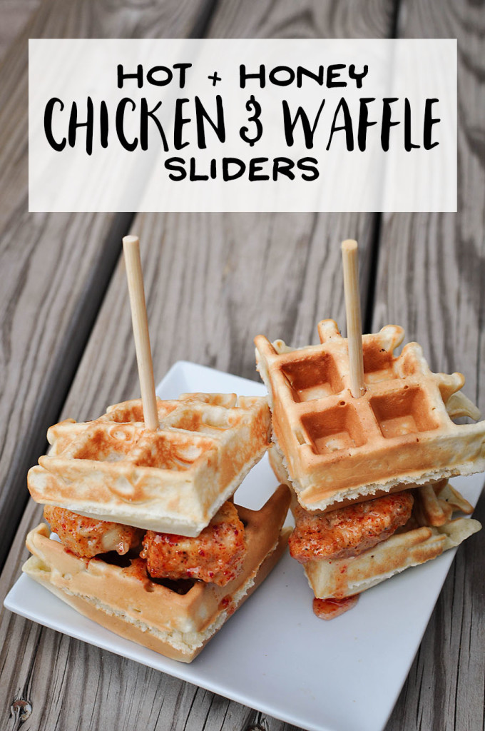 Hot + Honey Chicken and Waffle Sliders | Wit & Wander Long