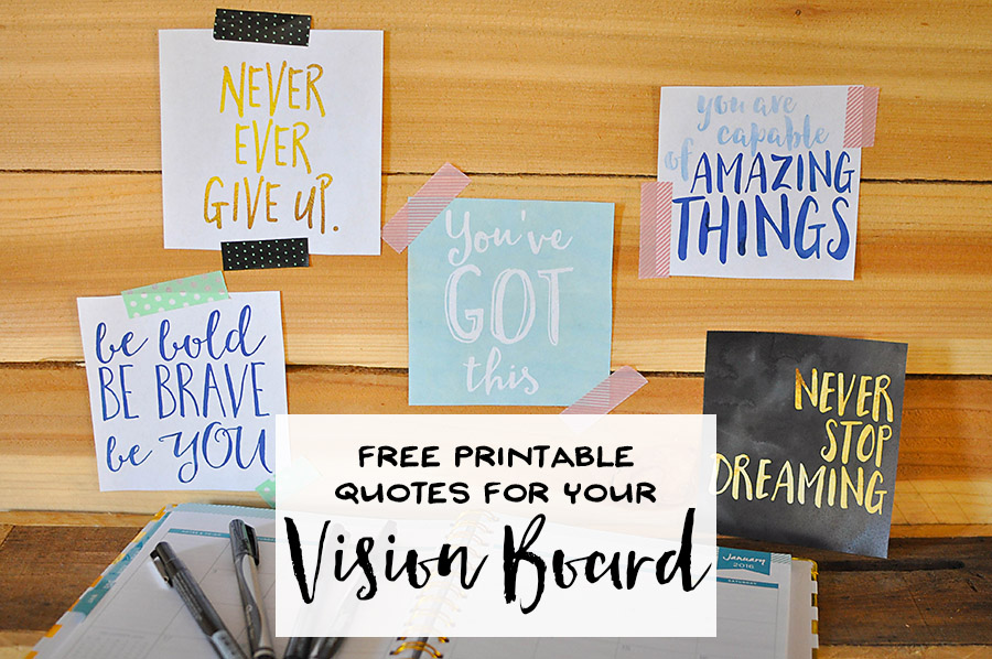 free printable quotes for a vision board our handcrafted