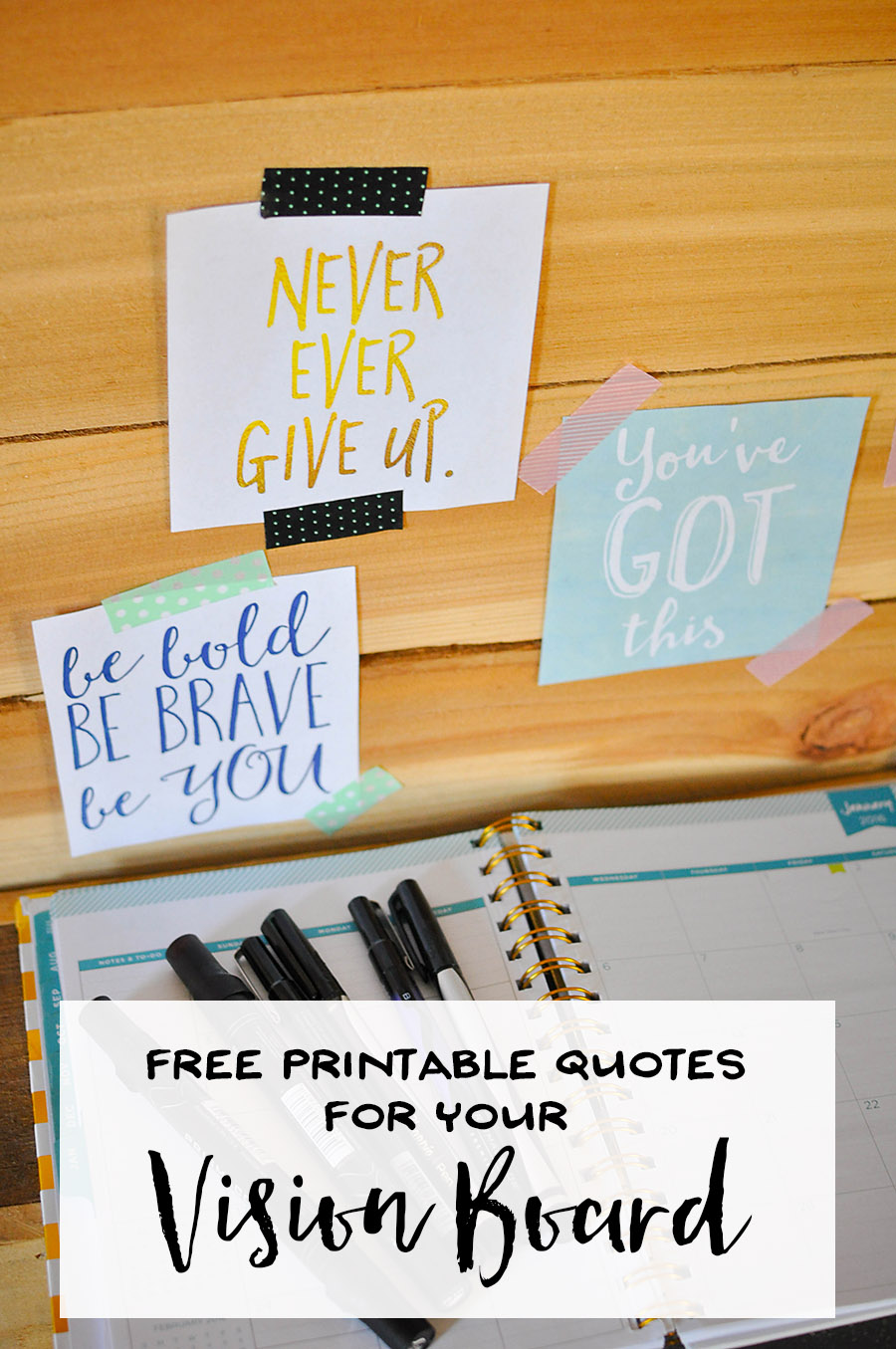 Free Printable Quotes for a Vision Board - Our Handcrafted Life