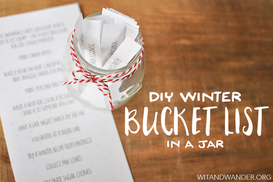 Winter Bucket List in a Jar | Wit & Wander Header WW