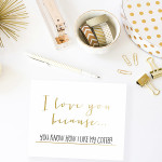 DIY I Love You Because Dry Erase Board