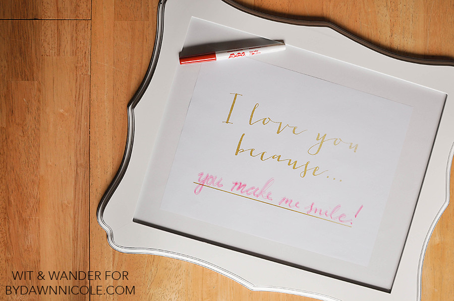 Free Printable I Love You Because... Dry Erase Board - Valentine's Day Gift