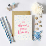 April Showers Bring May Flowers | Free Printable