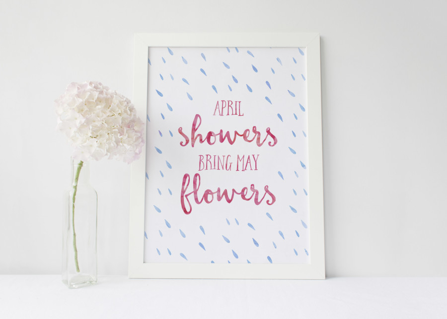 Free Printable April Showers Bring May Flowers | Wit & Wander