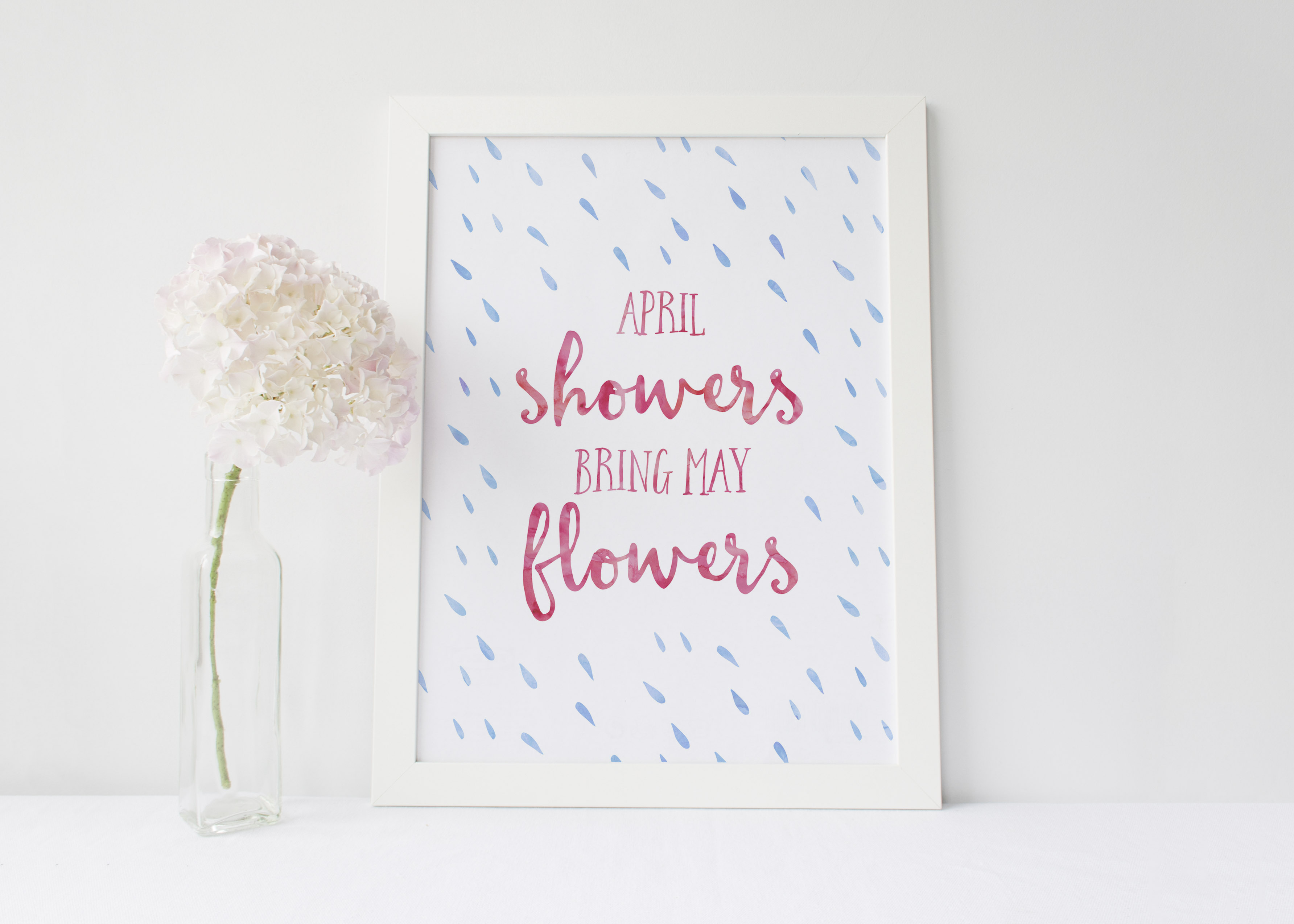 April Showers Bring May Flowers | Free Printable - Our Handcrafted Life