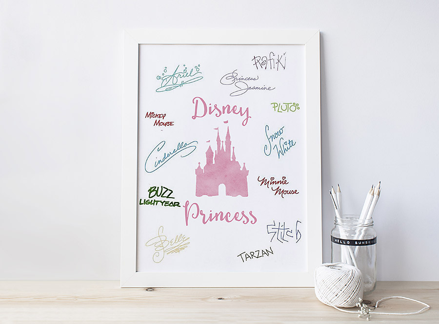 Free Disney World Autograph Print - Dreams Come True Pinterest