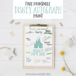 Free Disney World Autograph Print - Dreams Come True and Disney Princess