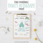 Free Walt Disney World Character Autograph Print