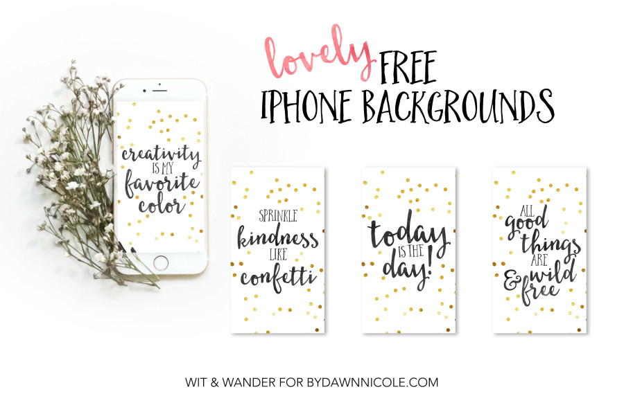 Spring iPhone Backgrounds   Wit & Wander
