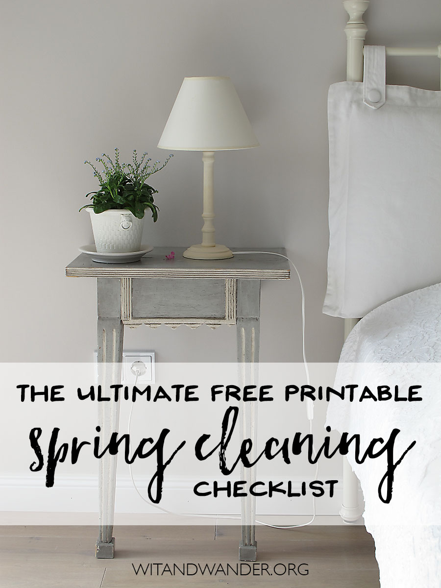 The Ultimate Free Printable Spring Cleaning Checklist - Wit & Wander