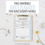 Free Printable Walt Disney World Daily Planner