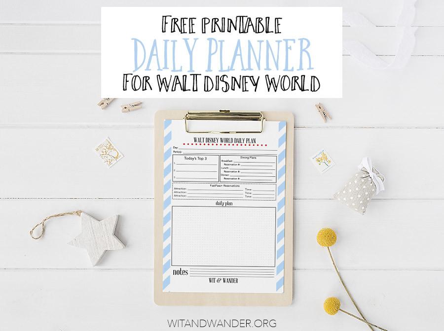 Walt Disney World Daily Planner - Wit & Wander