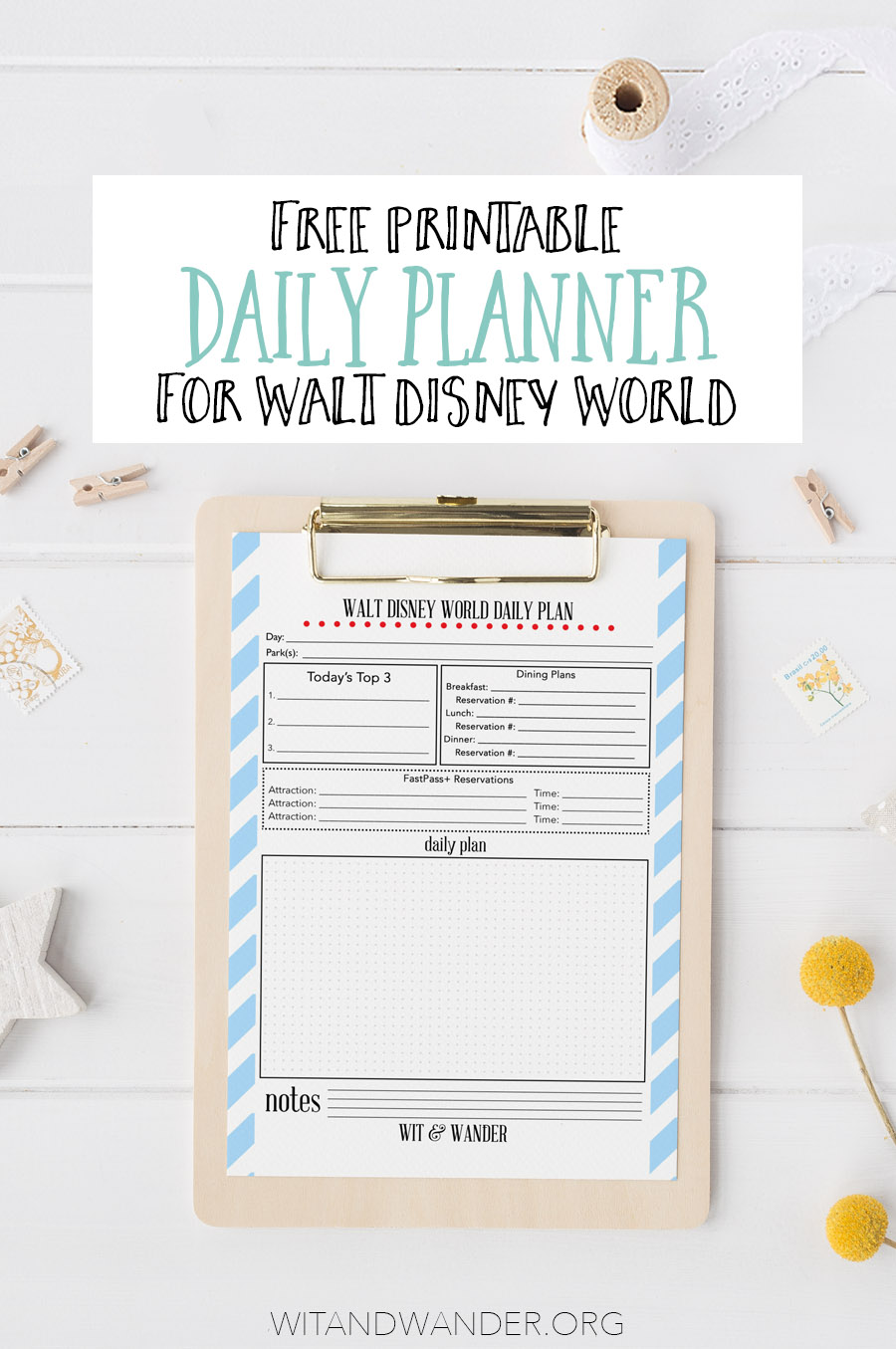 Walt Disney World Daily Planner - Wit & Wander