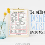 The Ultimate Walt Disney World Packing List + Expert Packing Tips to Save You Money - Wit & Wander