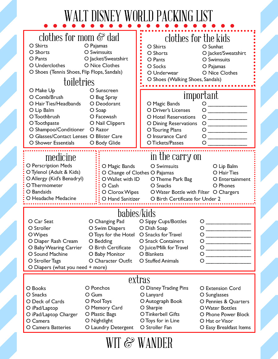 The Ultimate Disney World Packing List Expert Packing