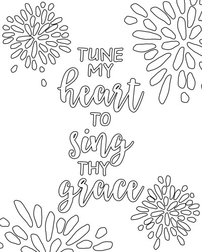Come Thou Fount - Adult Coloring Pages - Hymns | Wit & Wander
