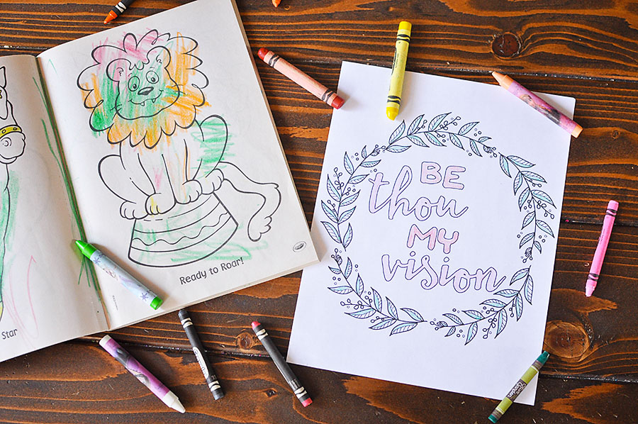 Free Printable Adult Coloring Pages - Hymns & Scripture - Our ...