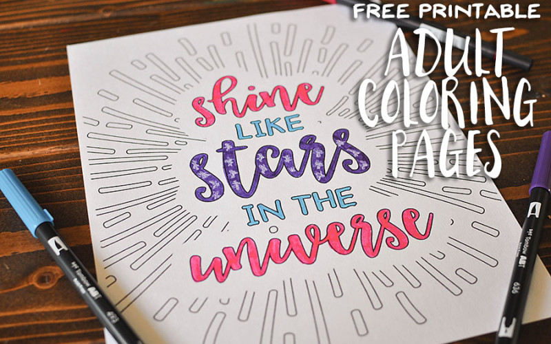 Free Printable Adult Coloring Pages | Wit & Wander