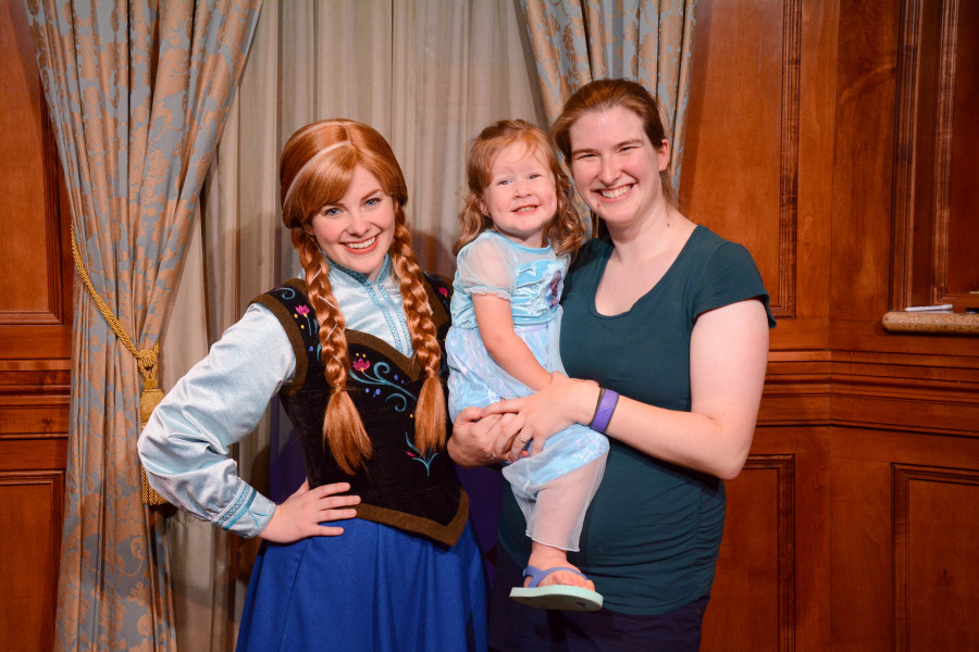 Anna Meet and Greet - Walt Disney World 2016 - Our Disney Trip Report | Wit & Wander