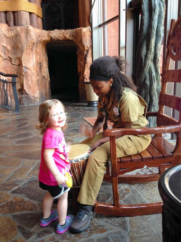 Drumming in Animal Kingdom Lodge Lobby - Walt Disney World 2016 - Our Disney Trip Report | Wit & Wander