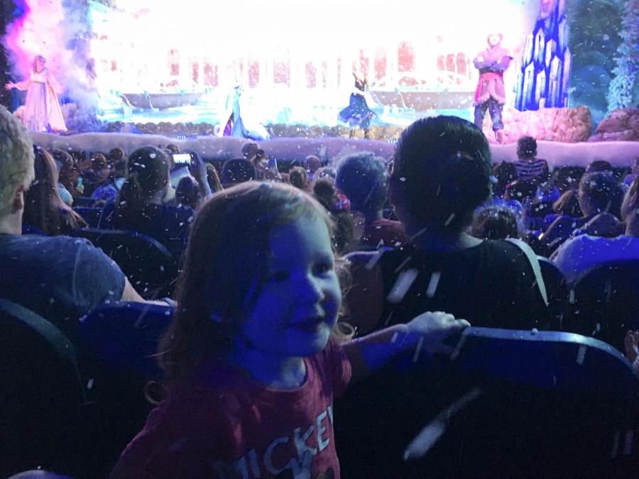 Toddler at Frozen Sing Along Celebration - Walt Disney World 2016 - Our Disney Trip Report | Wit & Wander