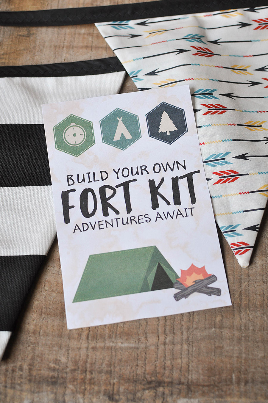 Diy Fort Kit With A Free Printable Gift Tag Our
