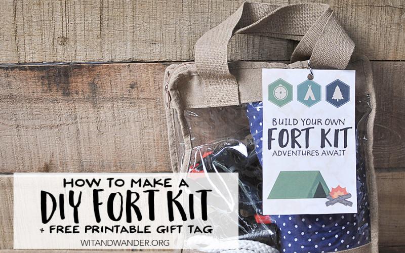 DIY Fort Kit Gift for Kids - Wit & Wander