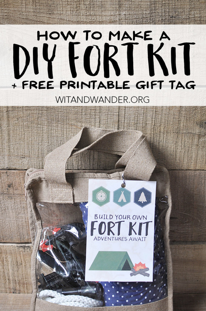 DIY Fort Kit Gift for Kids - Wit & Wander