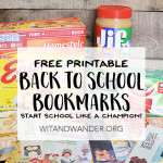 Free Printable Bookmarks – Start School Like a Champion!