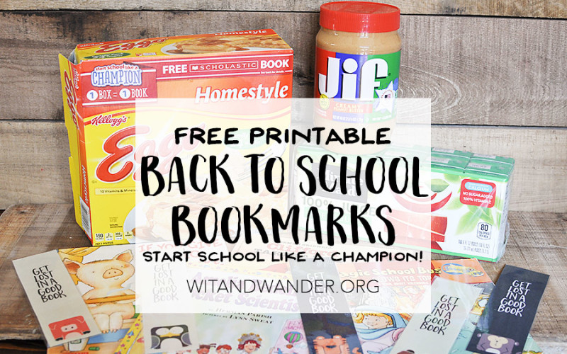 Free Printable Back to School Bookmarks - Wit & Wander