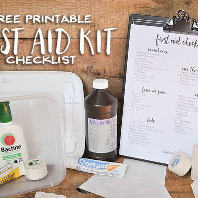 Free Printable First Aid Kit Checklist - Wit & Wander
