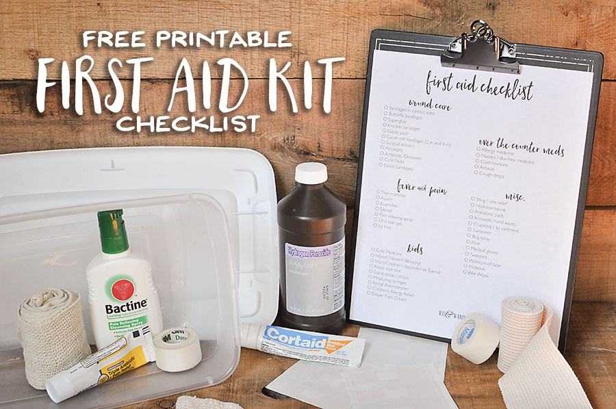 picture relating to First Aid Printable called Totally free Printable Initially Assist Package Listing - Our Handcrafted Daily life