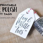 Free Printable Nail Polish Gift Tags - Wit & Wander
