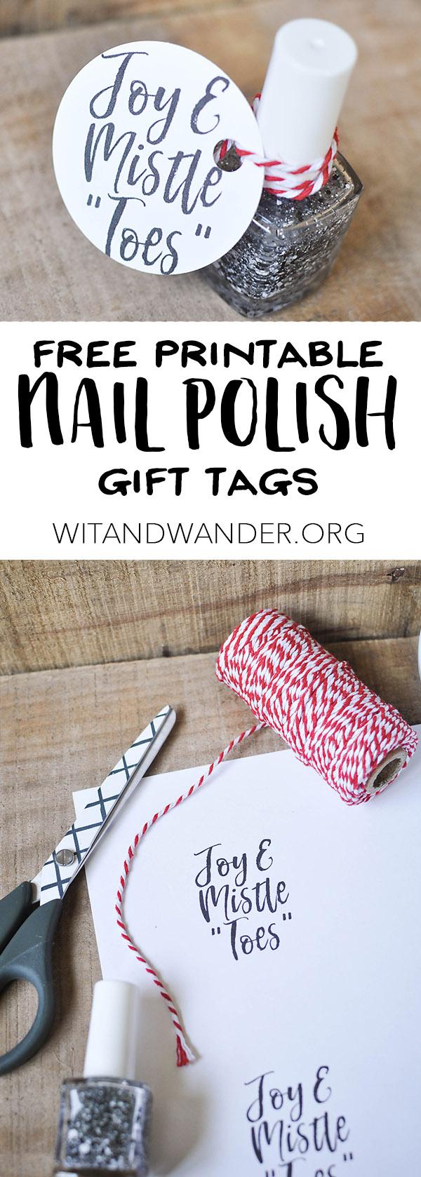 Free printable nail polish gift tags our handcrafted life free printable nail polish gift tags wit wander negle Choice Image
