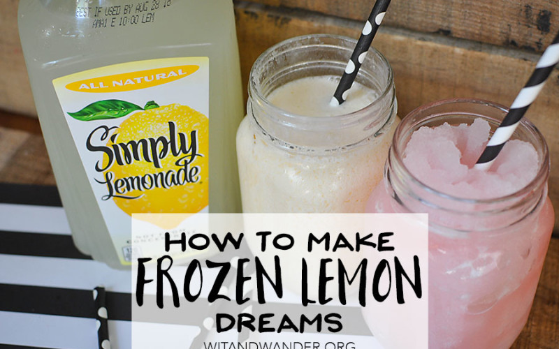 Simple Summer Treat: Frozen Lemon Dreams