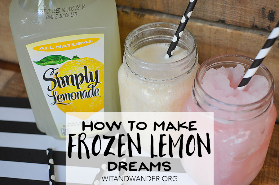 Simple Summer Recipe - Frozen Lemon Dreams | Wit & Wander