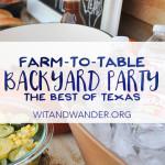 Texas Farm-to-Table Backyard Party