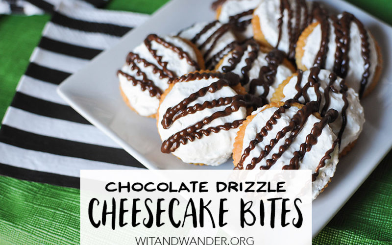 Chocolate Drizzle Cheesecake Bites | Wit & Wander